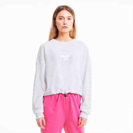 Evide Women's Crewneck Sweatshirt, Puma White, small
