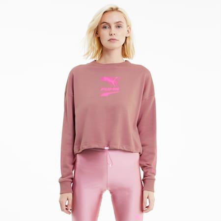 Evide Women's Crewneck Sweatshirt, Foxglove, small