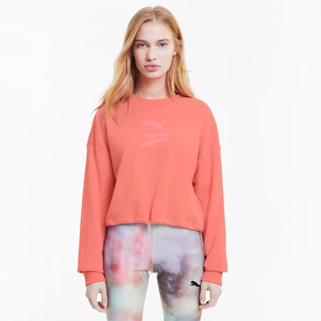 Evide Damen Rundhals-Sweatshirt, Salmon Rose, small
