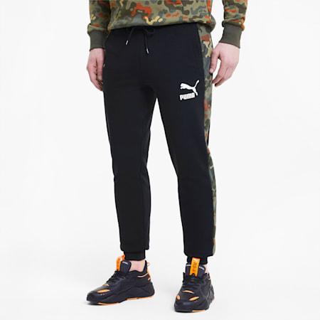 Classics Men's Graphic AOP Pants, Puma Black-Forest Night, small