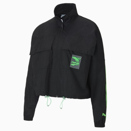 Evide Women's Track Jacket, Puma Black, small