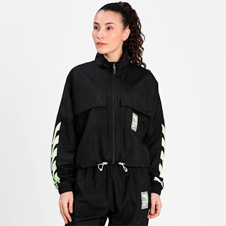 Evide Woven Women's Track Jacket, Puma Black, small-IND