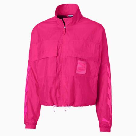 Evide Gewebte Damen Trainingsjacke, Fuchsia Purple, small