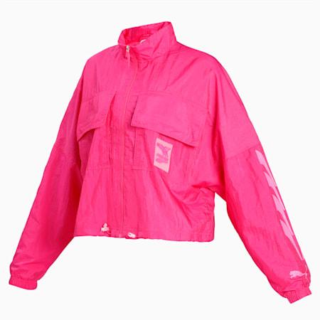 Evide Woven Women's Track Jacket, Fuchsia Purple, small-IND