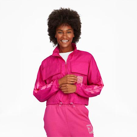 Evide Women's Track Jacket, Fuchsia Purple, small