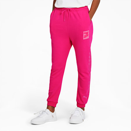Evide Women's Track Pants, Glowing Pink, small