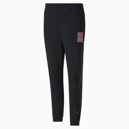 Evide Graphic Knitted Damen Trainingshose, Puma Black-pink, small