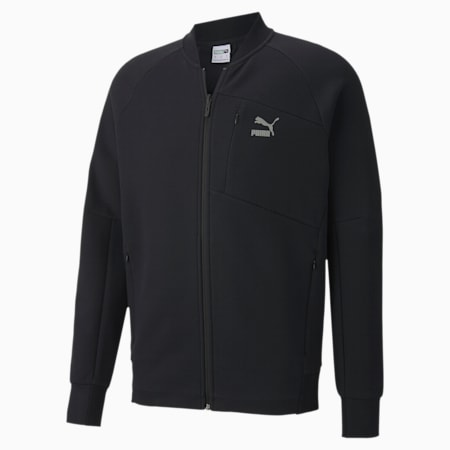 Classics Tech Full Zip Men's Bomber Jacket, Puma Black, small