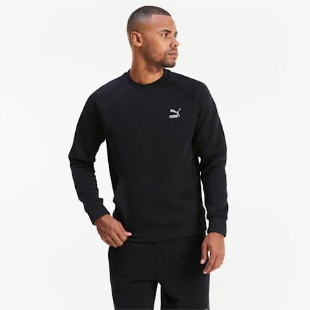Classics Tech Long Sleeve Men's Sweater, Puma Black, small