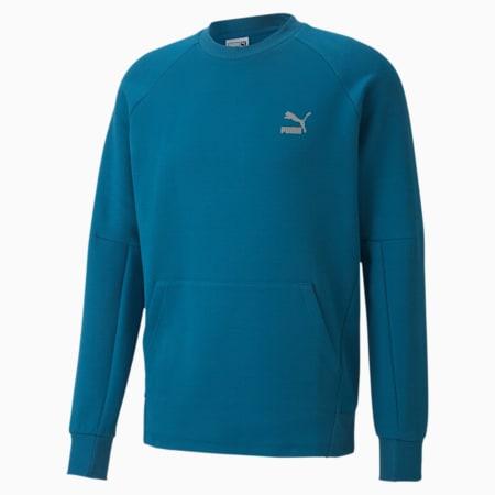 Classics Tech Long Sleeve Men's Sweater, Digi-blue, small-IND