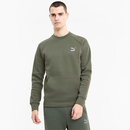 Classics Tech Herren Sweatshirt, Thyme, small