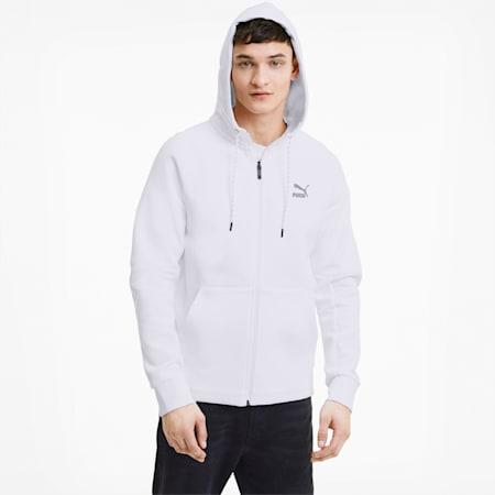 Classics Tech Men's Full Zip Hoodie, Puma White, small