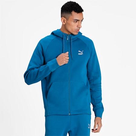 Classics Tech Men's Full Zip Hoodie, Digi-blue, small