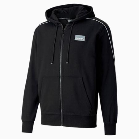 Avenir Full Zip Men's Hoodie, Puma Black, small