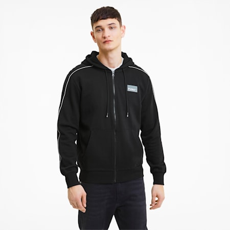 Avenir Full Zip Men's Hoodie, Puma Black, small