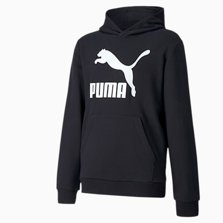 Felpa con cappuccio Classics da ragazzo, Puma Black, small