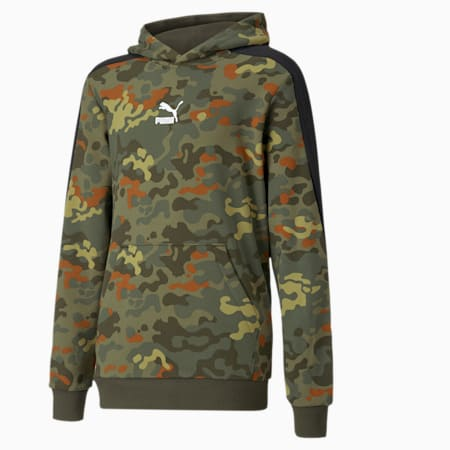 Classics Graphic Printed Youth Hoodie, Forest Night, small