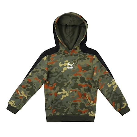 Classics Graphic Printed Kid's Hoodie, Forest Night, small-IND