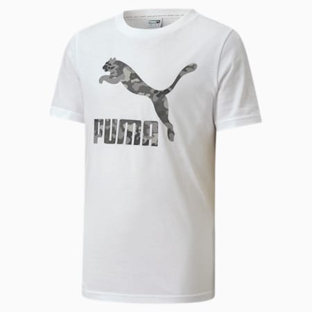 Classics Graphic Youth Tee, Puma White-ultra gray, small-SEA