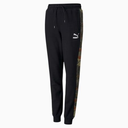 Classics Graphic Kid's Sweatpants, Puma Black-Forest Night, small-IND