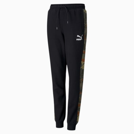 Classics Graphic Youth Sweatpants, Puma Black-Forest Night, small-GBR