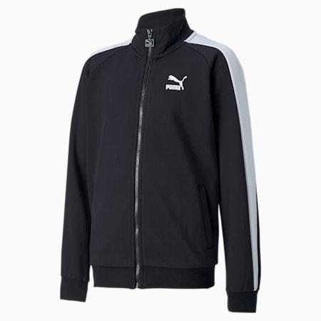 Młodzieżowa kurtka dresowa Iconic T7, Puma Black, small