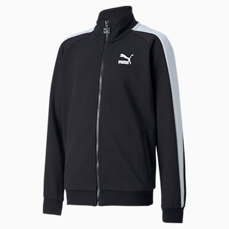 Iconic T7 Kid's Track Jacket, Puma Black, small-IND