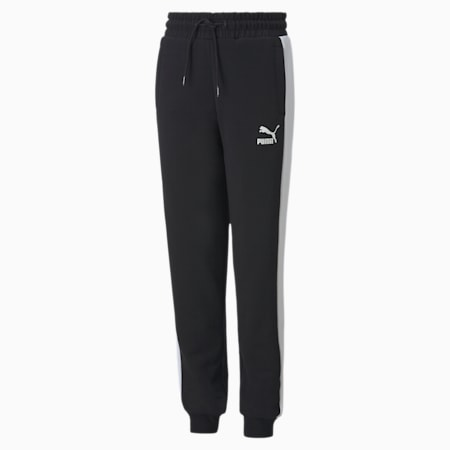 Iconic T7 Youth Track Pants, Puma Black, small