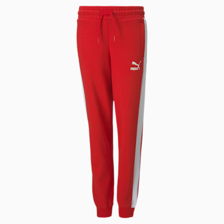 Iconic T7 Youth Track Pants, High Risk Red, small-SEA