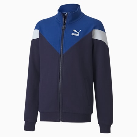 Iconic MCS Youth Track Jacket, Peacoat, small