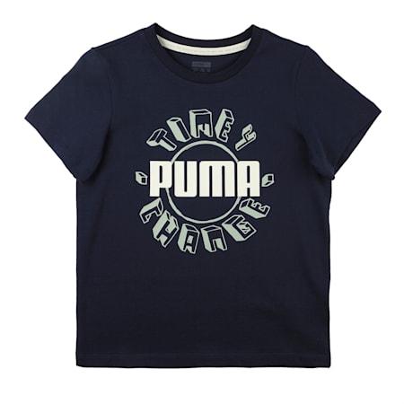 T4C Kids' Crew Neck T-Shirt, Peacoat, small-IND