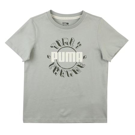 T4C Kids' Crew Neck T-Shirt, Aqua Gray, small-IND
