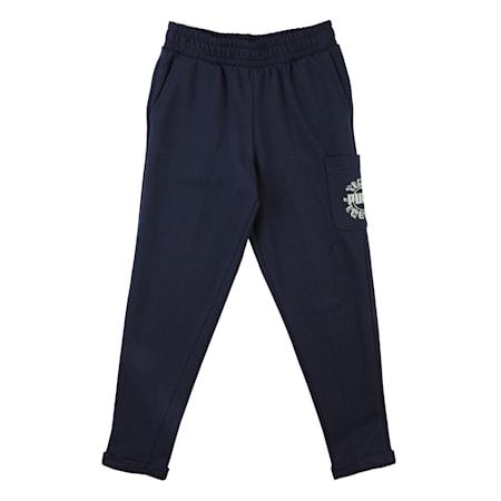 T4C Kids' Sweatpants, Peacoat, small-IND