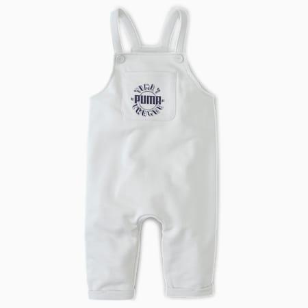 T4C Babies' Dungarees, Vaporous Gray, small
