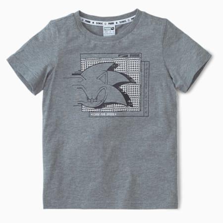 キッズ PUMA x SEGA 半袖 Tシャツ 104-152cm, Medium Gray Heather, small-JPN