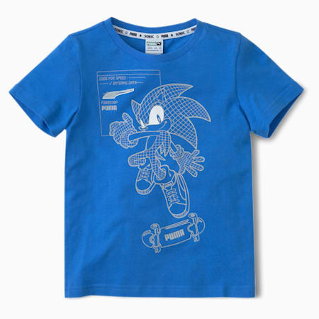 PUMA x SEGA Kids' Tee, Palace Blue, small