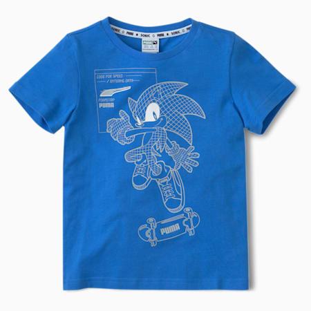 PUMA x SEGA Kids' Crew Neck T-Shirt, Palace Blue, small-IND