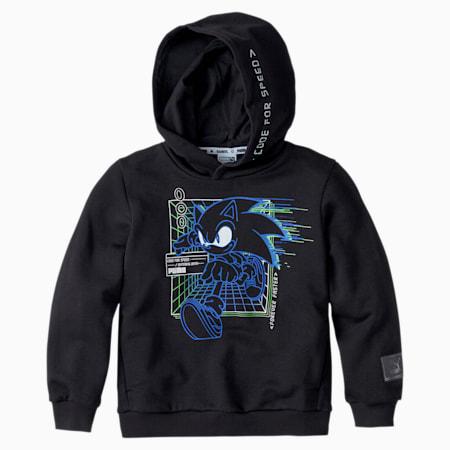 PUMA x SEGA hoodie voor kinderen, Puma Black, small