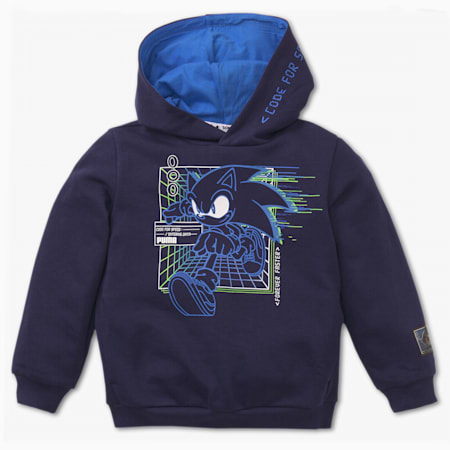 PUMA x SEGA Kids' Hoodie, Medieval Blue, small-SEA