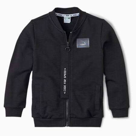 PUMA x SEGA Kids' Bomber Jacket, Puma Black, small