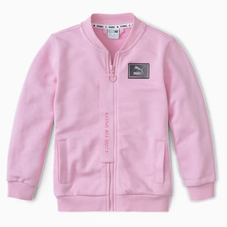 PUMA x SEGA Kinder Bomberjacke, Pale Pink, small