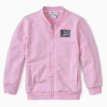 PUMA x SEGA Kids' Bomber Jacket, Pale Pink, small