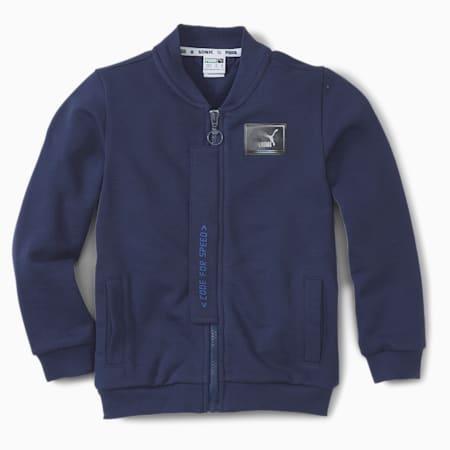 PUMA x SEGA Kids' Bomber Jacket, Medieval Blue, small