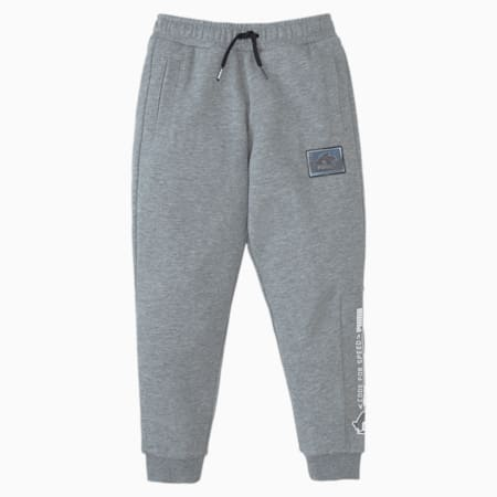 PUMA x SEGA Boys' Sweatpants, Medium Gray Heather, small
