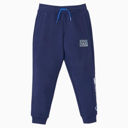 Dziecięce spodnie dresowe PUMA x SEGA, Medieval Blue, small