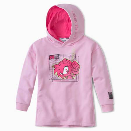 PUMA x SEGA Kids' Hoodie, Pale Pink, small-SEA