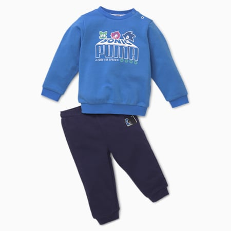 PUMA x SEGA joggingbroek voor baby's, Palace Blue, small