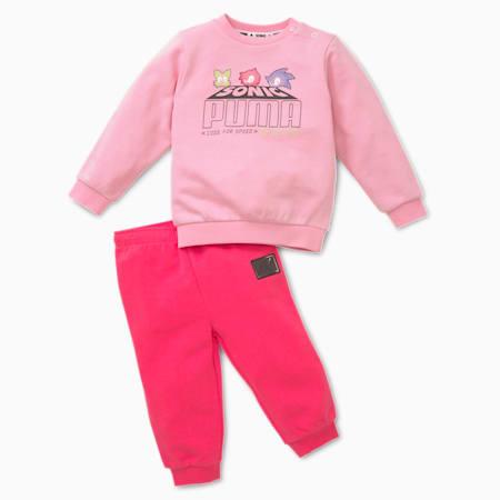 PUMA x SEGA joggingbroek voor baby's, Pale Pink, small