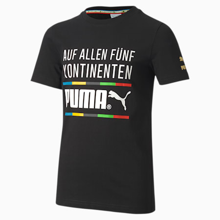 TFS Graphic Youth Tee, Puma Black-5 continents, small-SEA