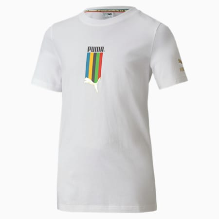TFS Graphic Youth Tee, Puma White-5 continents, small-SEA